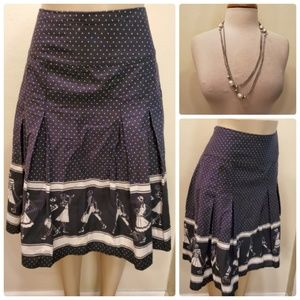 Liz Claiborne Polka Dot Pleated Skirt